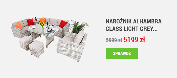 Narożnik Alhambra Glass Light Grey / Light Grey